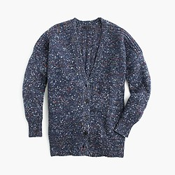 Collection chunky marled cardigan sweater