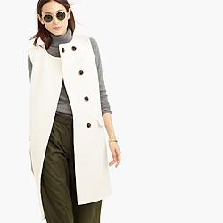 Collection double-faced Italian wool sleeveless coat