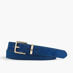 Bright calf hair belt