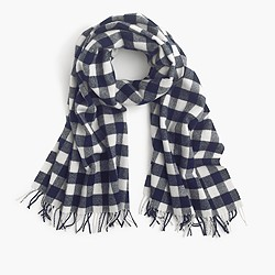 Buffalo check plaid scarf