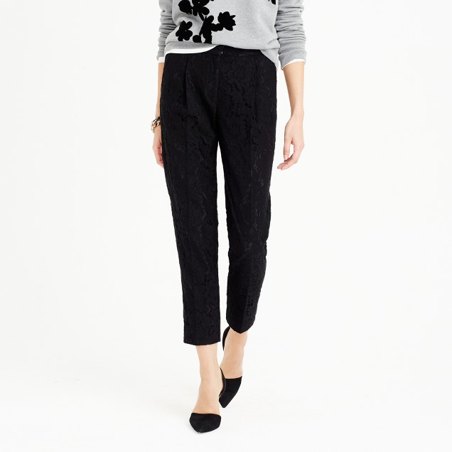 Collection cropped pant in Leavers lace