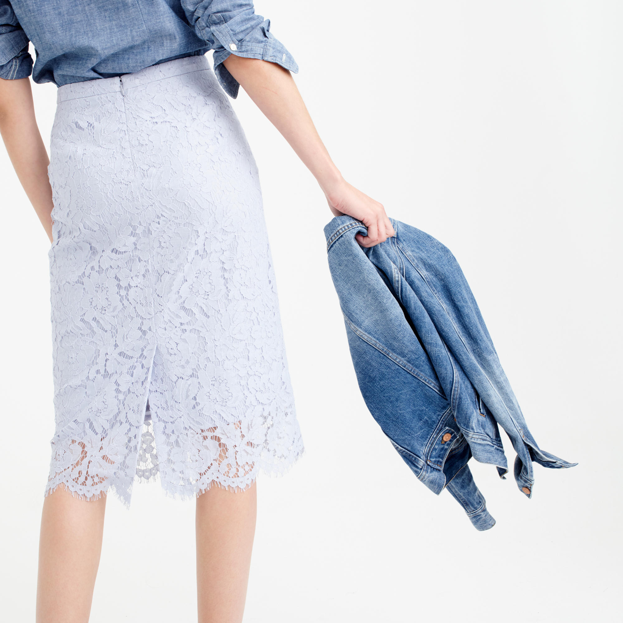 Collection lace pencil skirt : | J.Crew