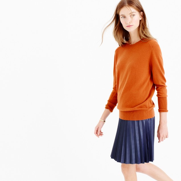 Italian relaxed cashmere pullover sweater