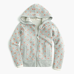 Girls' mini heart print hoodie
