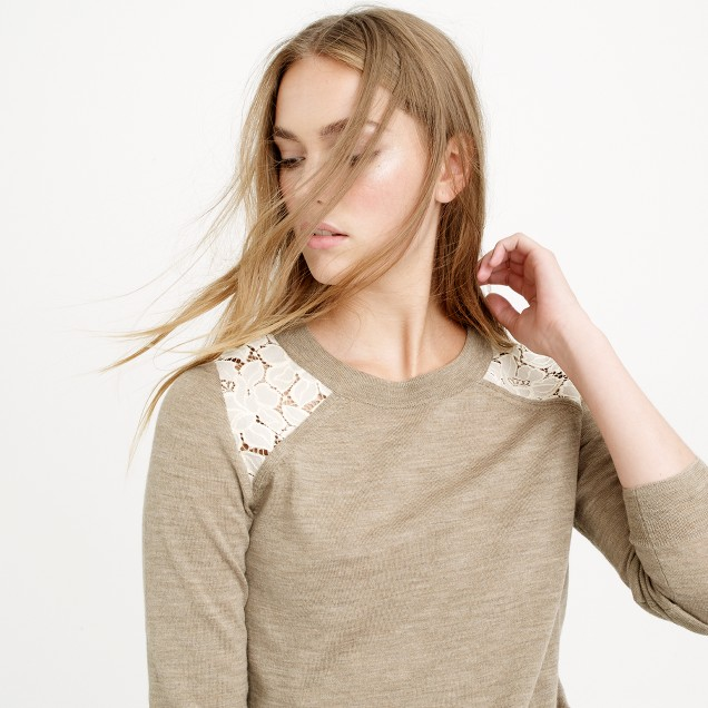 Tippi lace sweater