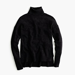 Relaxed wool turtleneck sweater with rib trim
