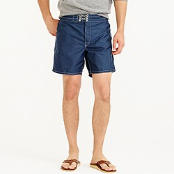 Birdwell® for J.Crew contrast pocket board short in navy