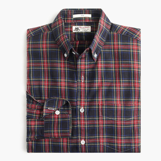 Slim Thomas Mason® for J.Crew flannel shirt in dan plaid