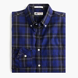 Thomas Mason® for J.Crew flannel shirt in hunting tartan