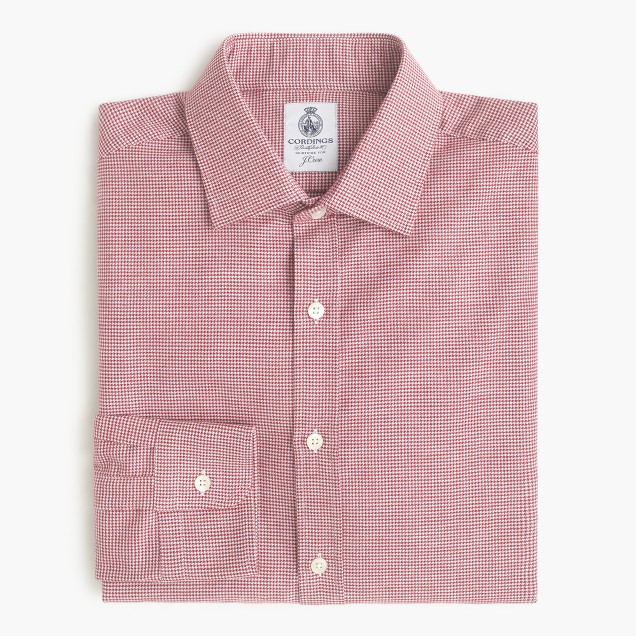 Cordings™ for J.Crew shirt in brushed mini houndstooth