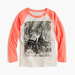 J.Crew for the American Museum of Natural History neon giraffe T-shirt