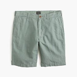 "9"" Stanton short in garment-dyed cotton-linen"
