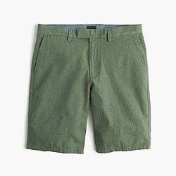 "10.5"" club short in brushed herringbone cotton"