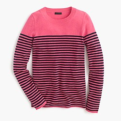 Collection cashmere long-sleeve T-shirt in stripe