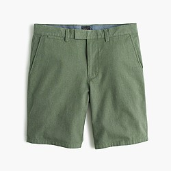 "9"" club short in brushed herringbone cotton"