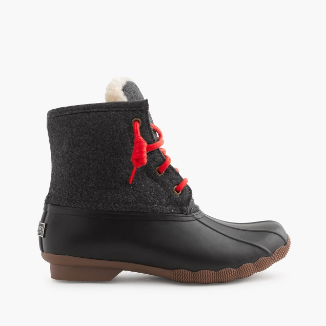 Women's Sperry® for J.Crew Shearwater flannel boots