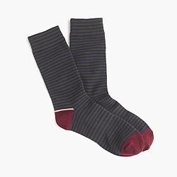 Tipped striped socks