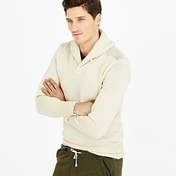 North Sea Clothing expedition shawl-collar sweater