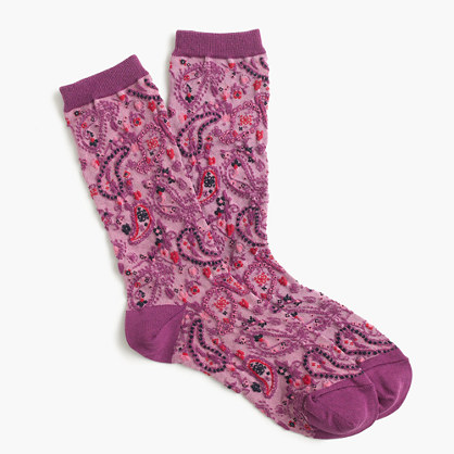 Paisley trouser socks