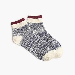 Marled tipped ankle socks