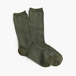 Sparkle-striped trouser socks