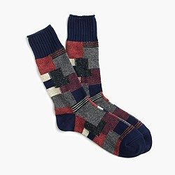 Anonymous Ism™ patchwork crew socks