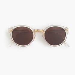 Super™ retro sunglasses with clear frame
