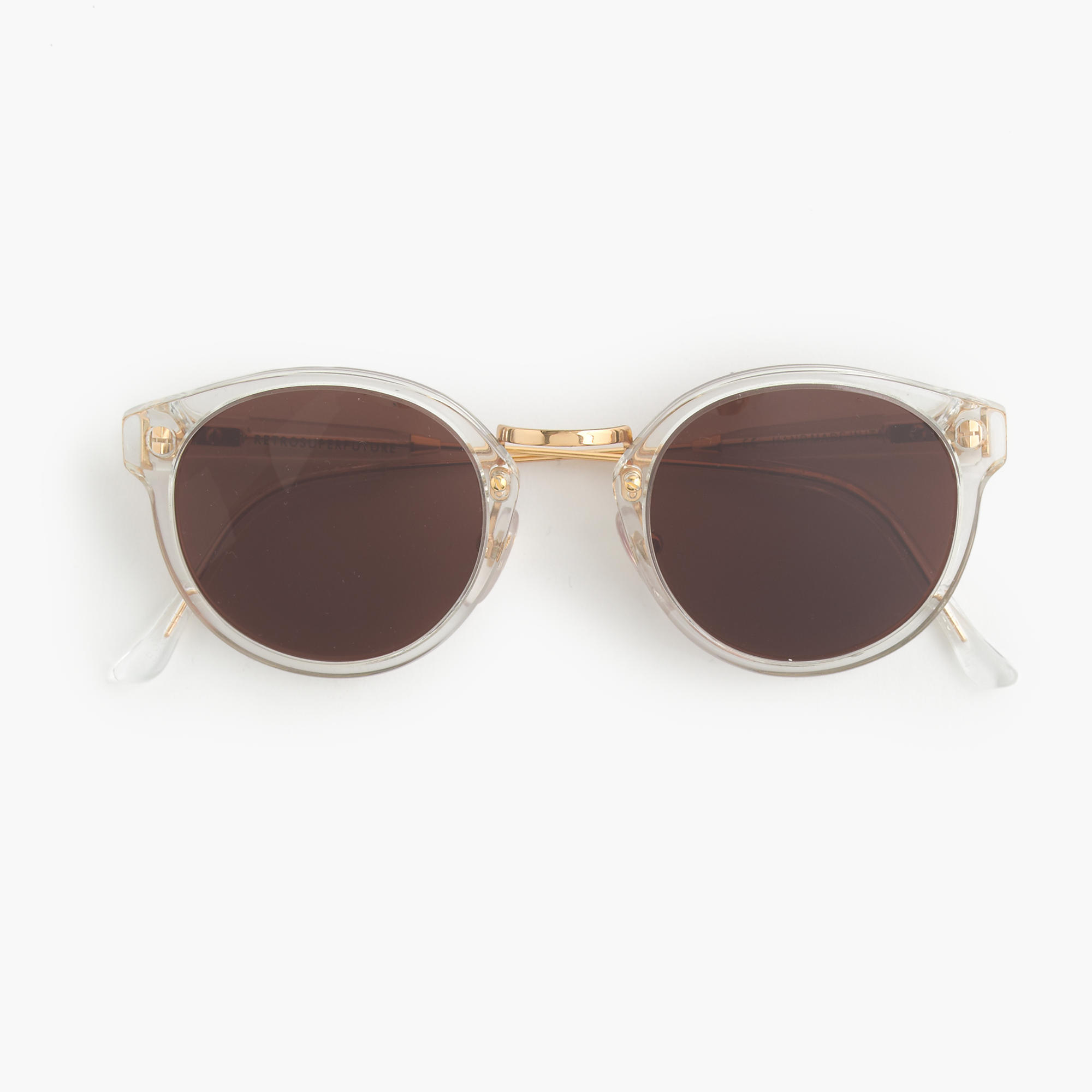 super retro sunglasses with clear frame