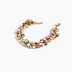 Gem cluster choker necklace