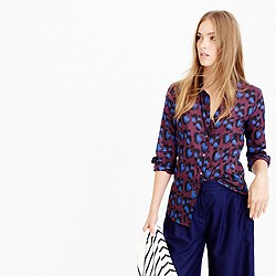 Perfect shirt in cobalt leopard