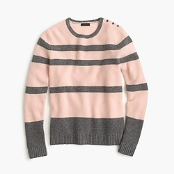Collection cashmere striped waffle sweater