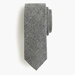 American wool tie in glen plaid