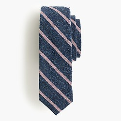English silk tweed tie in stripe