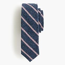 English silk tweed tie in stripe