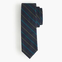 English silk tie in two-color stripe