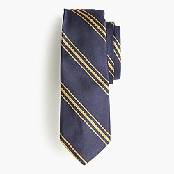 Italian silk tie in triple stripe