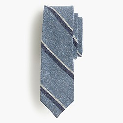 English silk tweed tie in seascape dot