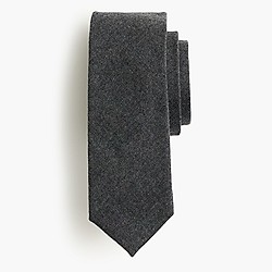 American heather wool tie in solid