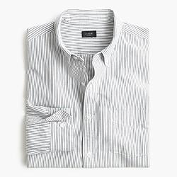 Slim vintage oxford shirt in night black stripe