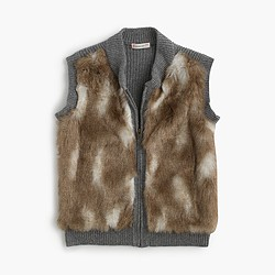 Girls' faux-fur vest