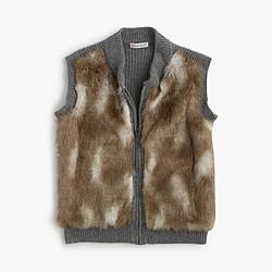 Girls' faux-fur vest