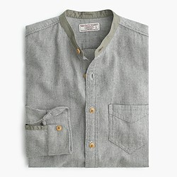 Wallace & Barnes flannel band-collar shirt