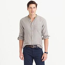 Wallace & Barnes flannel band-collar shirt