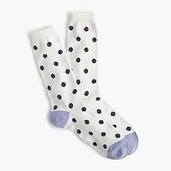 Shimmer-dot trouser socks