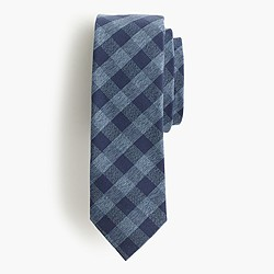 Jaspé cotton tie in gingham