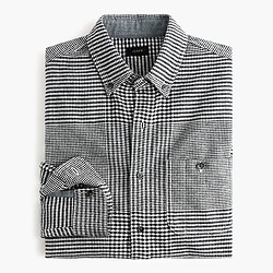 Cotton-wool elbow-patch shirt in glen plaid