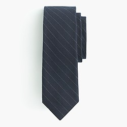 Cotton tie in pinstripe