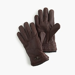 Hestra® leather Primaloft® ribbed gloves