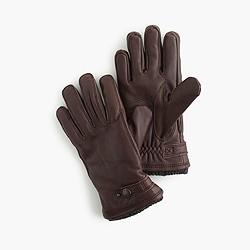 Hestra® leather Primaloft® ribbed gloves