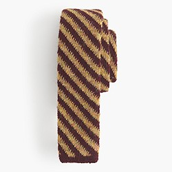 Italian knit wool tie in stripe